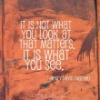 It Is What You See Quote