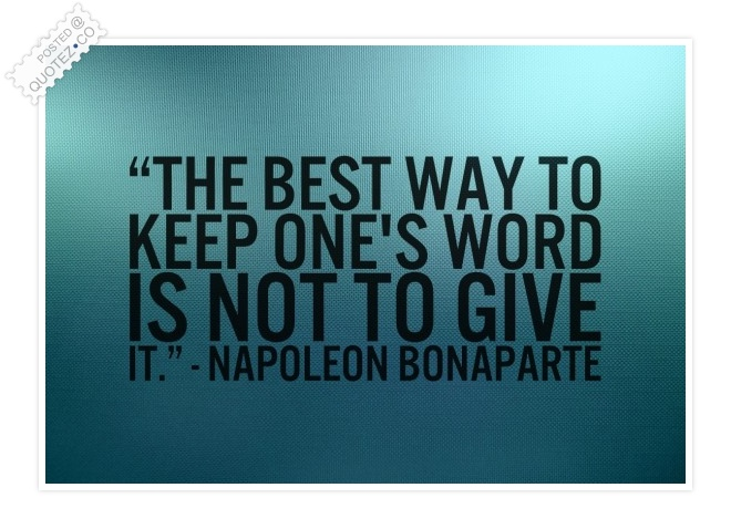 Keep One's Word Quote