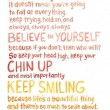 Keep Your Chin Up Quote
