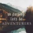 Let's Be Adventurers Quote