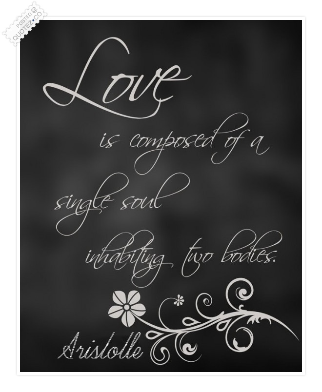 Love Is Composed Of A Single Soul Quote