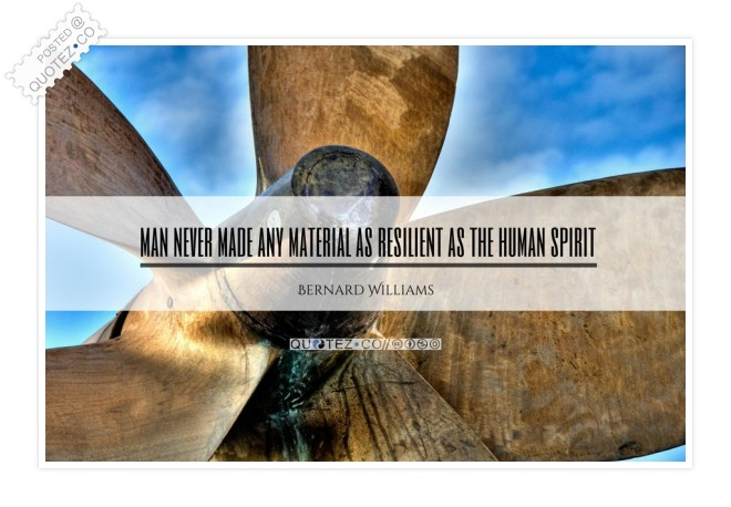 Material As Resilient As The Human Spirit Quote