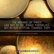 Meaning Of Things Quote