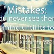 Mistakes Quote