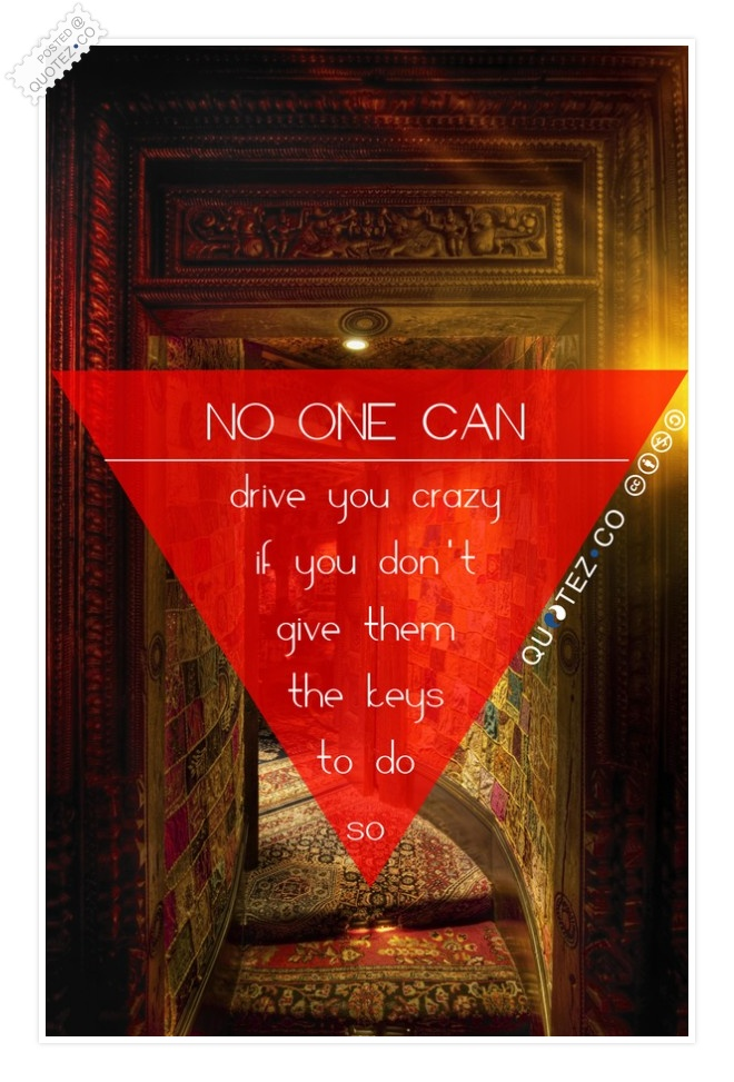 No One Can Drive You Crazy Quote