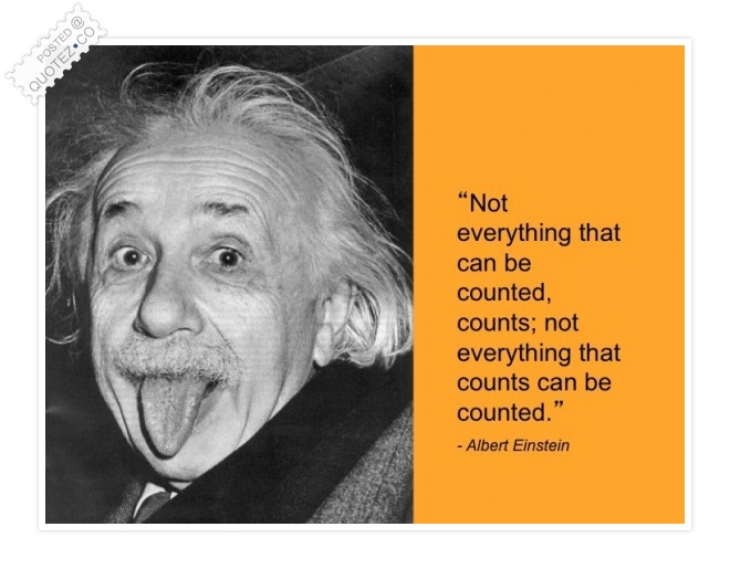 Not Everything Counts Quote