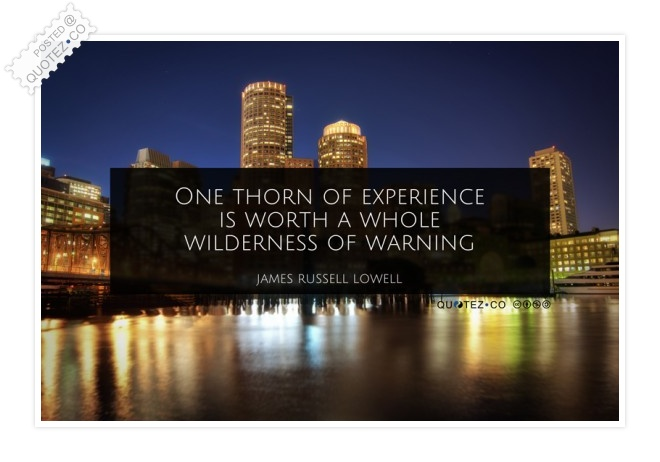 One Thorn Of Experience Quote