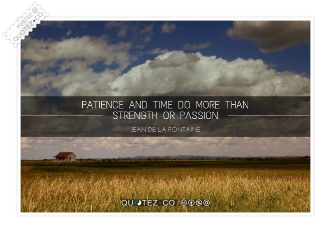 Patience And Time Quote