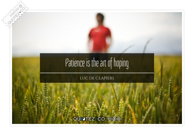 Patience Is The Art Of Hoping Quote