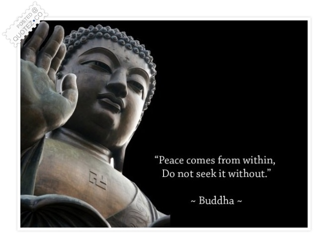 Peace Comes From Within Quote