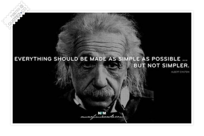 Simple Not Simpler Quote
