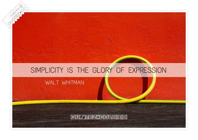 Simplicity Is The Glory Of Expression Quote