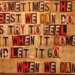 Sometimes The Best We Can Do Quote