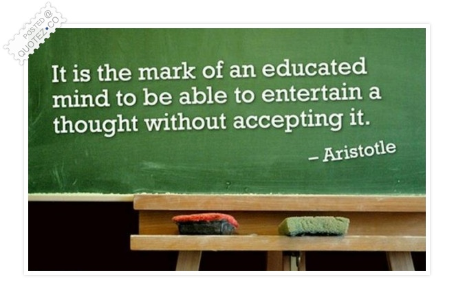 The Educated Mind Quote