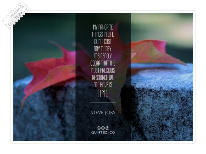 The Most Precious Resource We All Have Is Time Quote