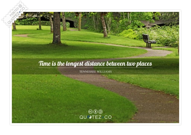 Time Is The Longest Distance Quote