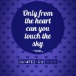 Touch The Sky (Blue) Quote