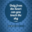 Touch The Sky (Cyan) Quote