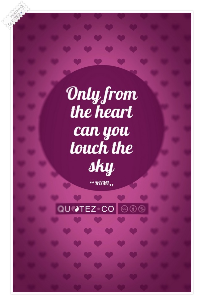 Touch The Sky (Pink) Quote