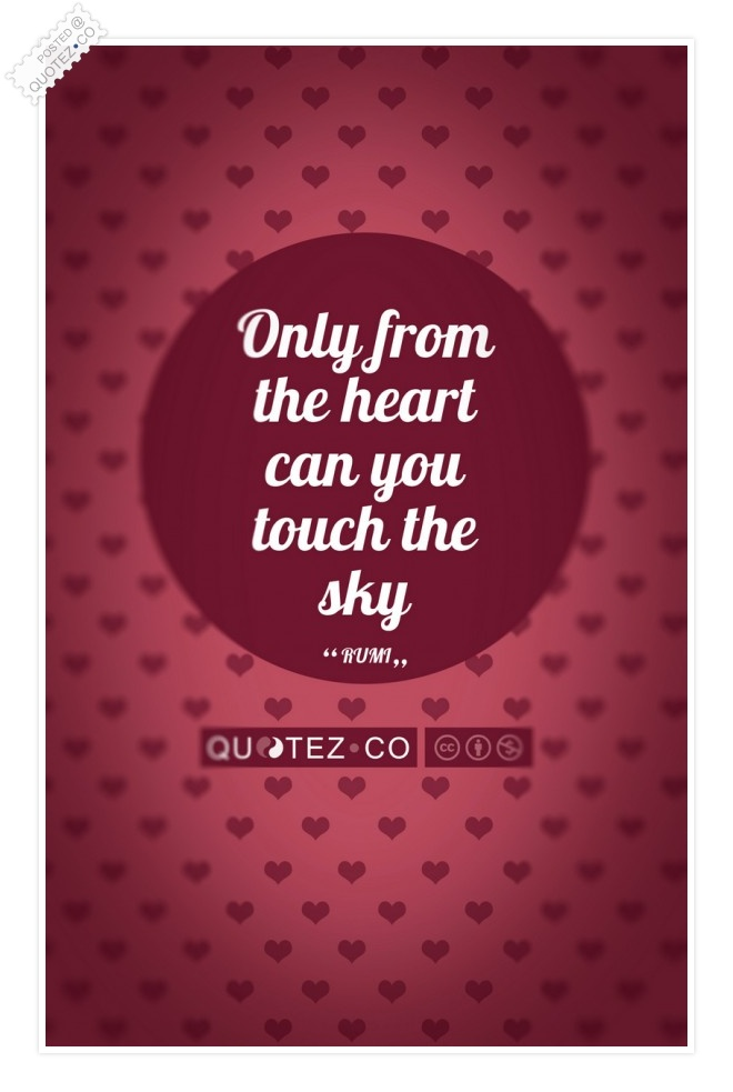 Touch The Sky (Red Pink) Quote
