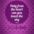 Touch The Sky (Violet) Quote