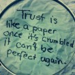 Trust Is Like A Pape Quote