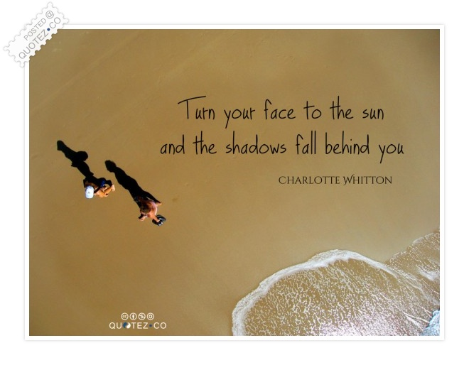 Turn Your Face To The Sun Quote