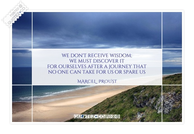 We Must Discover Wisdom Quote