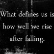 What Defines Us Quote