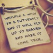 Whisper A Wish To A Butterfly Quote