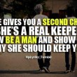 Why She Should Keep You Quote