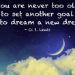 You Are Never Too Old To Set Another Goal Quote