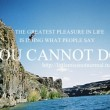 You Cannot Do Quote