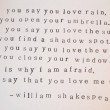 You Say That You Love Rain Quote