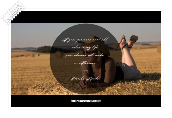 Your Presence Quote