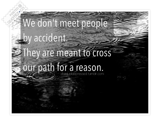 We Don't Meet People Quote