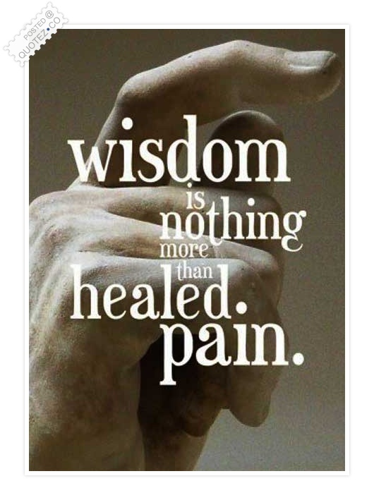 Wisdom Is Healed Pain Quote