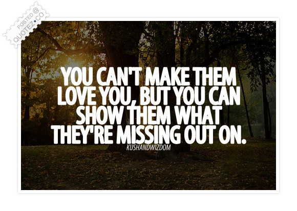 You Can't Make Them Love You Quote