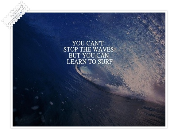 You Can't Stop The Waves Quote