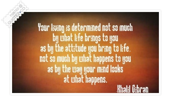 Your Living Is Determined By The Attitude Quote